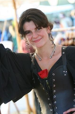 Kat in custom corset